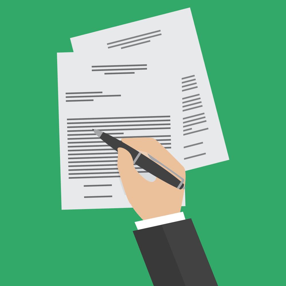 Bestätigung der Vereinbarungen